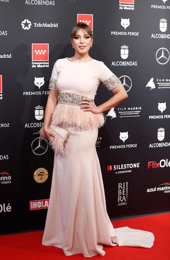 Gisela, con un vestido de Cristina