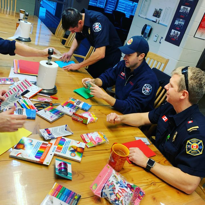 Barrie firefighters sit down and get crafty.