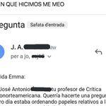 El correo que le mandó su profesor se convierte en un fenómeno en Twitter: ya tiene más de 5.800