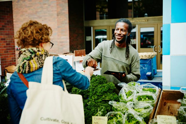 Buy local as much as possible and keep your diet veggie-based.