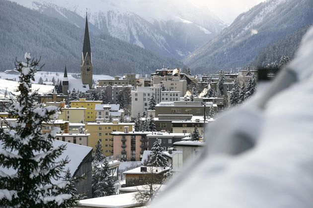 The ski resort of Davos, Switzerland, where the world's political and business elite gather for the annual...