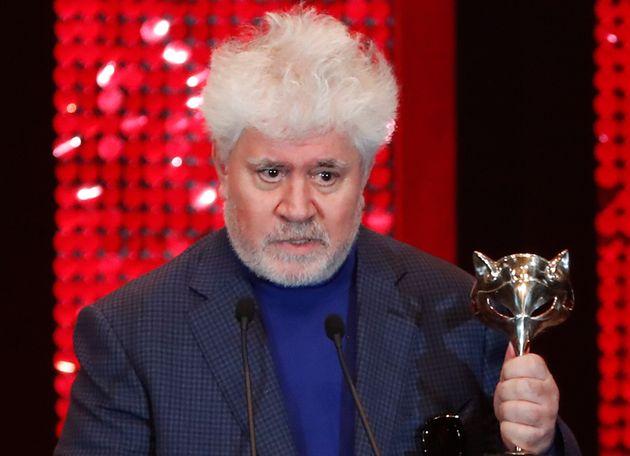 Pedro Almodóvar,en los Premios Feroz de