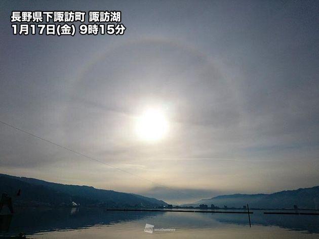 長野県下諏訪町 諏訪湖