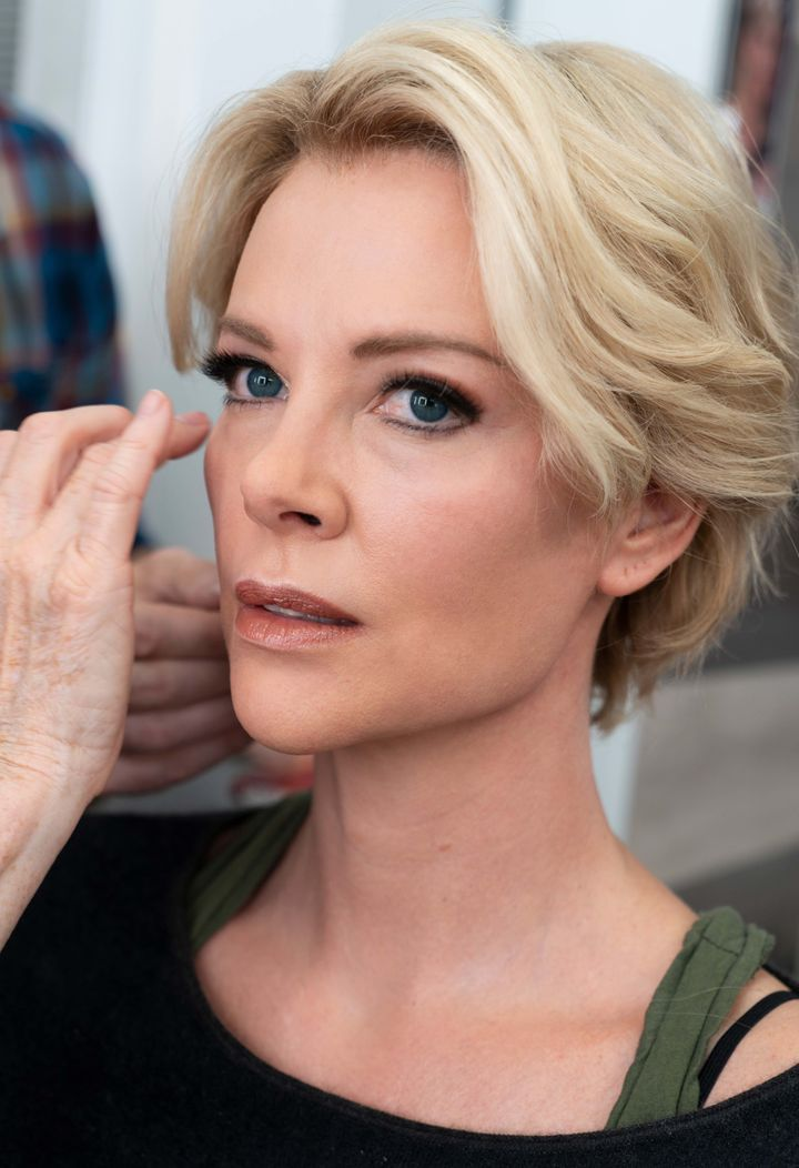 Theron spent three hours in the chair transforming into Kelly.