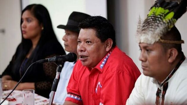 El presidente de la Coordinadora Nacional de Pueblos Indígenas (Coonapip), Marcelo Guerra