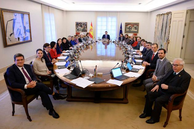 Imagen de archivo del primer Consejo de Ministros del Gobierno de