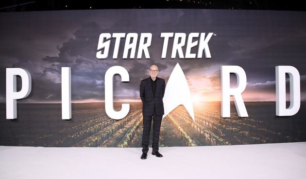 Sir Patrick Stewart attends the Star Trek: Picard UK Premiere at Odeon Luxe Leicester Square on January...
