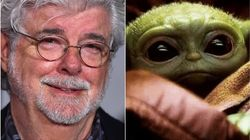 A Photo Of George Lucas Cradling Baby Yoda Is Freaking Everyone