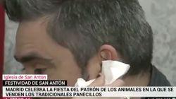 Un reportero de Telemadrid termina sangrando en directo tras ser atacado por un