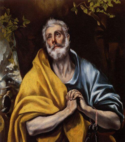 Δομήνικος Θεοτοκόπουλος Τα δάκρυα του Αποστόλου