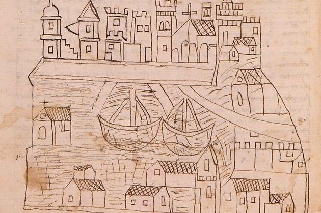 Ce dessin est considéré comme la plus ancienne représentation de la ville de Venise connue à ce jour...