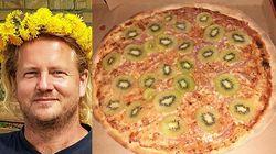 Svedese inventa la pizza al kiwi e racconta: