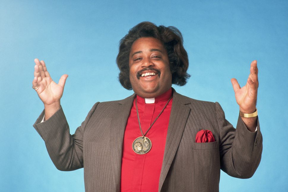 The Rev. Al Sharpton poses for a portrait during his early days as a public figure.
