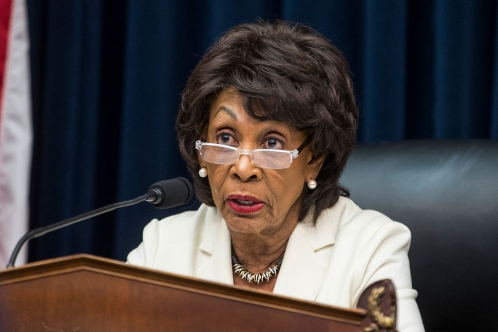 WASHINGTON, DC - APRIL 09: House Financial Services Committee Chairman First elected to Congress in 1990, Rep. Maxine Waters