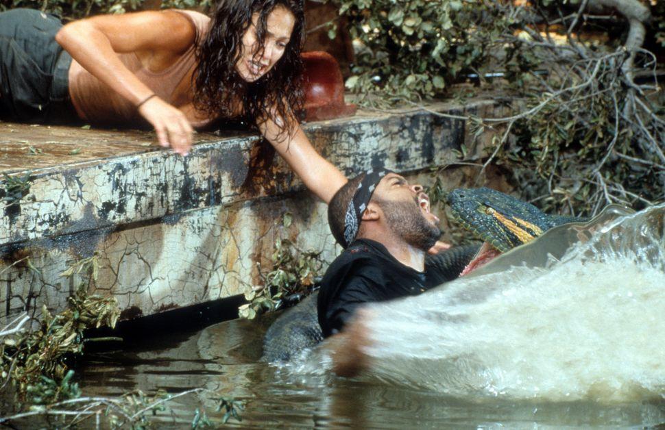 "Jennifer Lopez and Ice Cube in ""Anaconda."""