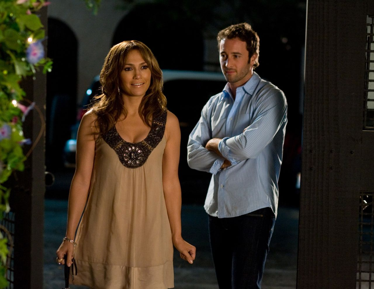 """Jennifer Lopez and Alex O'Loughlin in """"The Back-up Plan."""""""