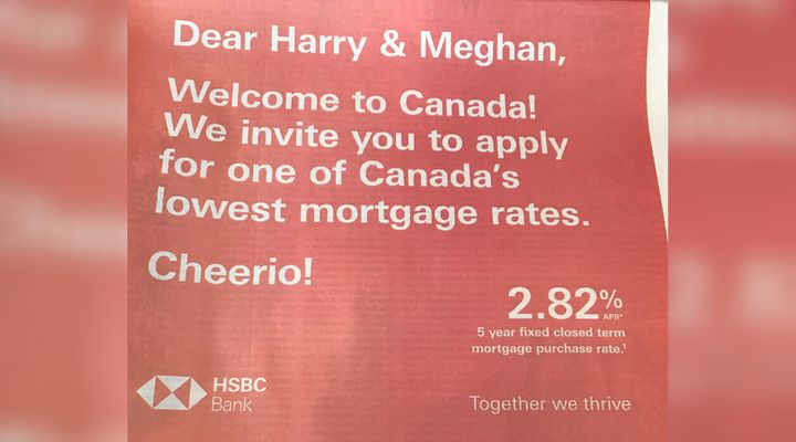 A bank advertisement in a Canadian newspaper on Jan. 17, 2019.