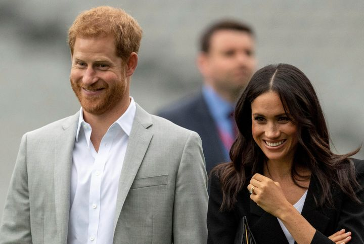 Prince Harry and Meghan, the Duke and Duchess of Sussex, intend to step back from their duties and responsibilities as senior members of the British Royal Family. They are pictured here in Dublin on July 11, 2018.