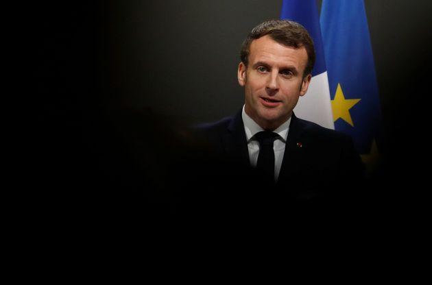 Emmanuel Macron, ici à Orléans le 16 janvier pour les vœux aux armées, a condamné...