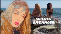 Arielle Dombasle en sirène pour vous faire ramasser le plastique
