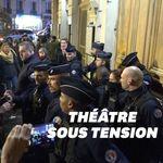 Macron évacué du théâtre des Bouffes du Nord après un rassemblement de