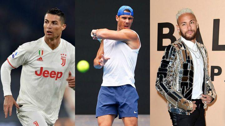Ronaldo, Nadal y Neymar.