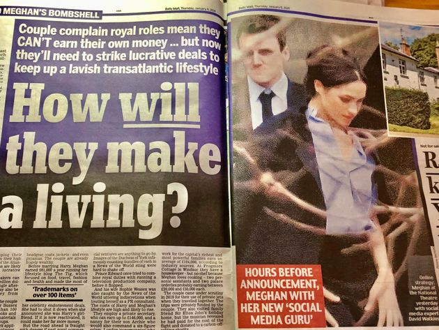 「どうやって生活していくの?」と問いかける、保守系大衆紙「デイリー・メール」(1月9日付)