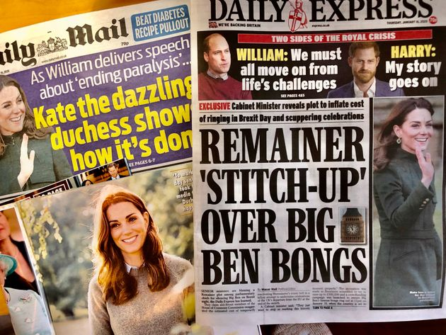 ウィリアム王子の妻キャサリン妃の公務をほめたたえる、英新聞各紙(1月16日付)