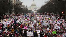 National Archives ausgewaschen Anti-Trump Nachrichten Im Frauen-März Foto