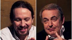El comentario de Zapatero que dejó con esta cara a Pablo Iglesias en 'Otra Vuelta de