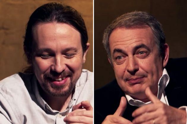 Pablo Iglesias y Zapatero en 'Otra Vuelta de