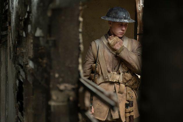 George MacKay as Schofield in 1917, the new epic from Oscar®-winning filmmaker Sam