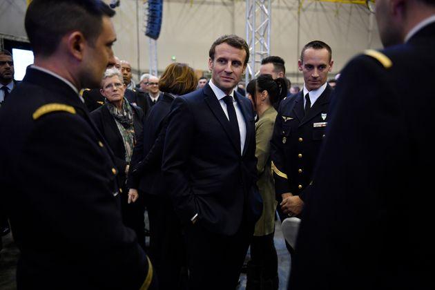 Emmanuel Macron lors des vœux aux Armées le 16 janvier à