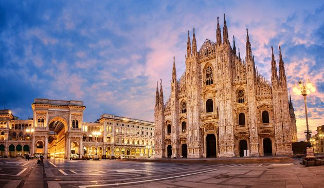 Milan Cathedral, Duomo di Milano, Italy, one of the largest churches in the world on