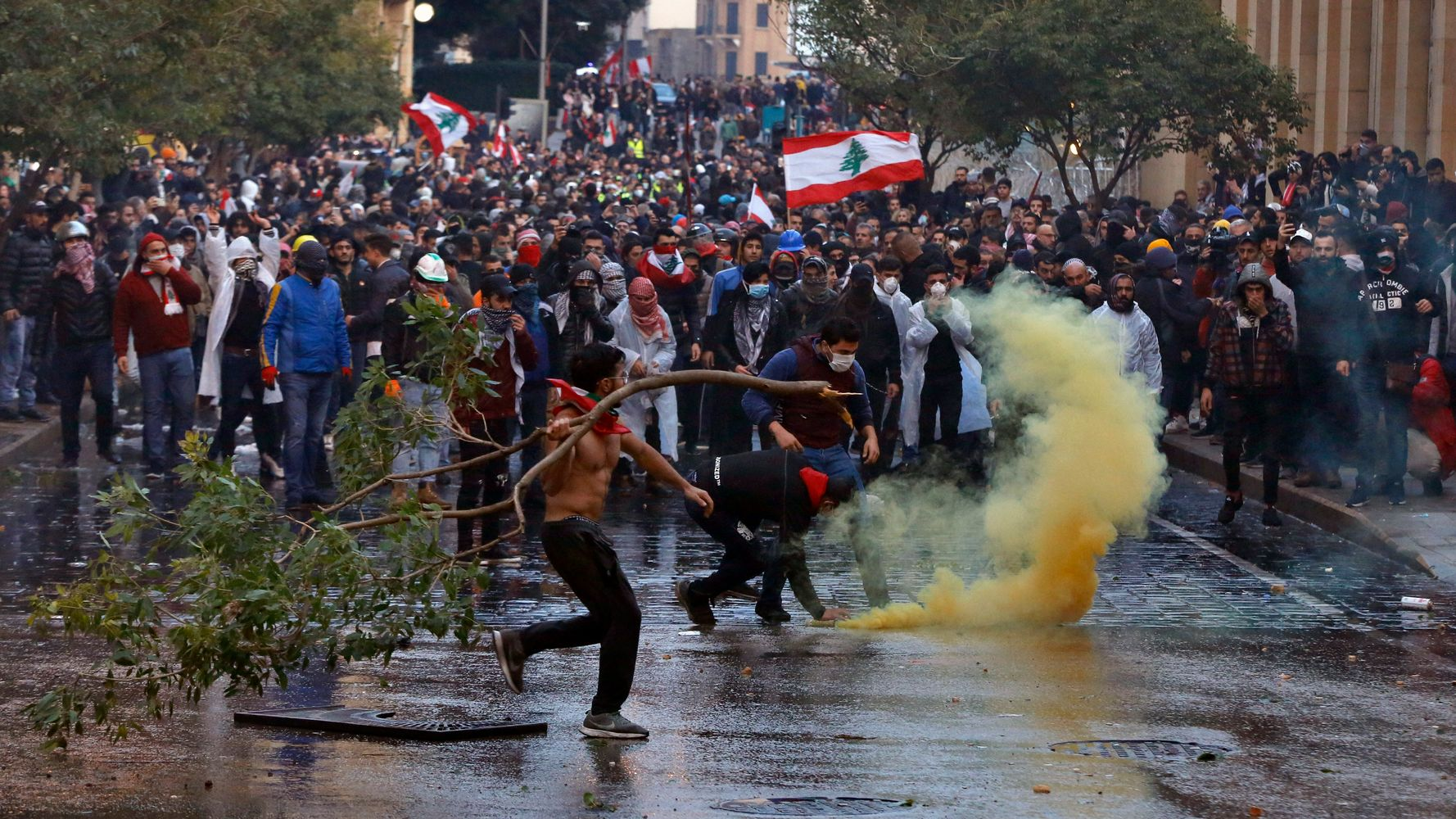 Westlake Legal Group 5e235a7d24000052006c4500 Lebanon Police Fire Tear Gas, Water Cannons At Protesters Amid Riot