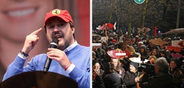 Salvini e le Sardine a