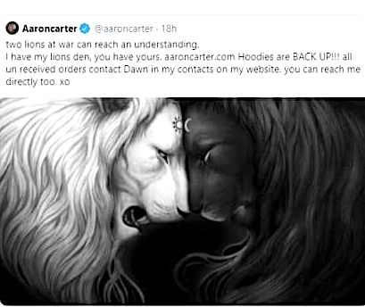 Art by Jonas Jödicke turns up in Aaron Carter post promoting his