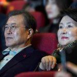 문재인 대통령이 영화 '천문'을 보고 한