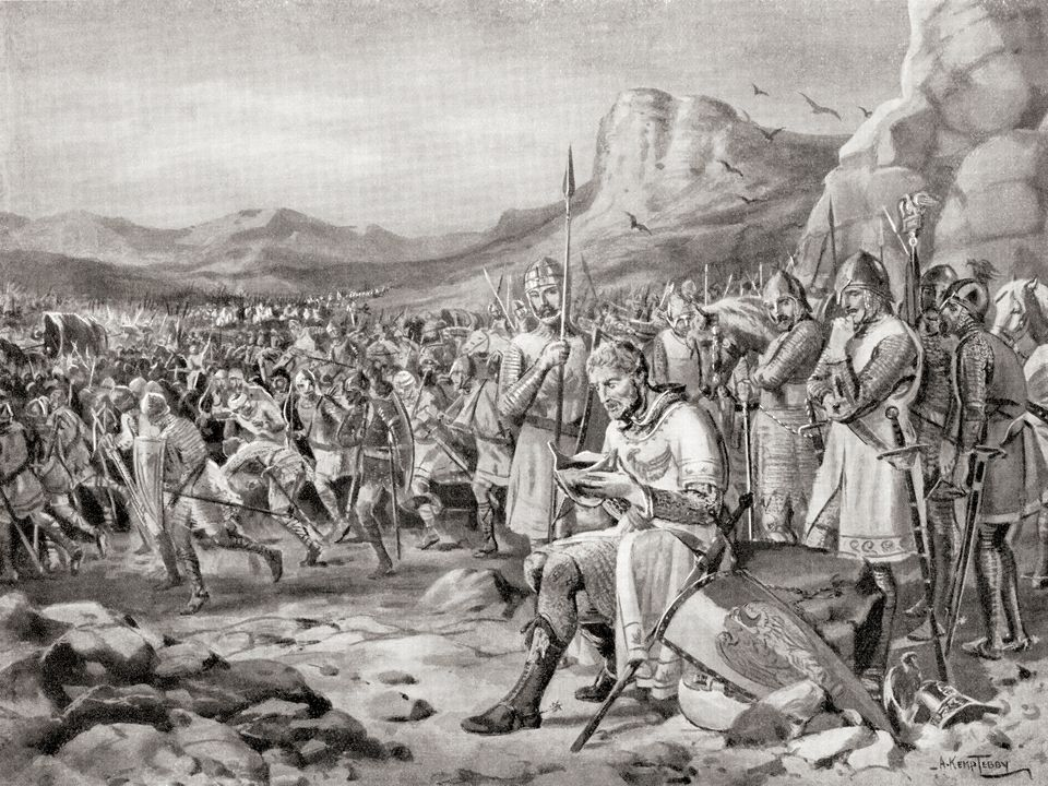 The defeat of Manuel I at The Battle of Myriokephalon, aka Battle of Myriocephalum, 1176. Manuel I Komnenos...
