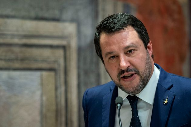 ROME, ITALY - JANUARY 16: Lega political party leader Matteo Salvini takes part in the political conference...