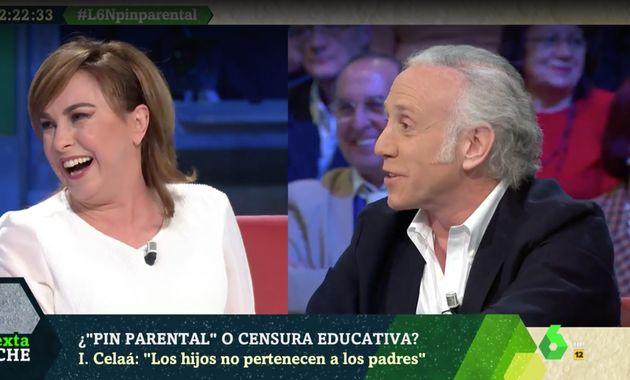 Angélica Rubio y Eduardo Inda en 'LaSexta