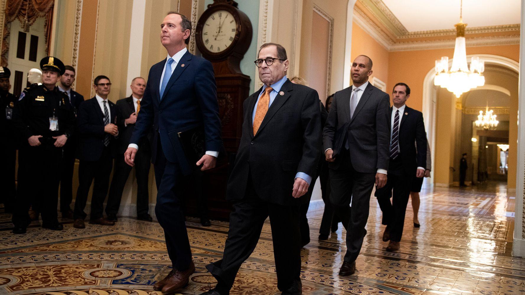 Westlake Legal Group 5e248a0b220000d8063f7bdb Schiff, Nadler Slam Trump Team's Defense That 'Abuse Of Power' Isn't Impeachable