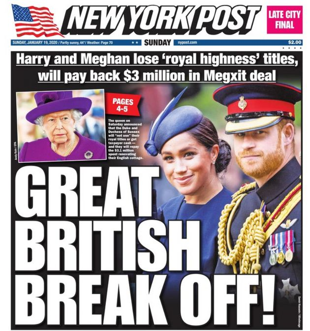 The Great British Break Off: How North American And UK Newspapers Reported Meghan And Harrys Exit