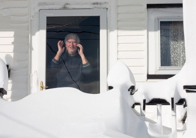 A resident of downtown St. John's on