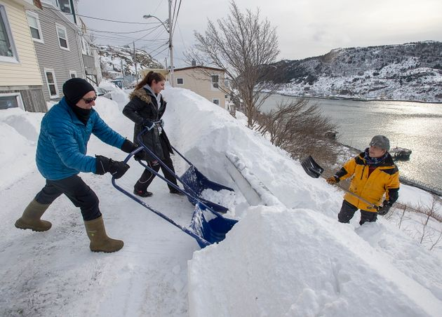 Residents clear snow in St. John's on