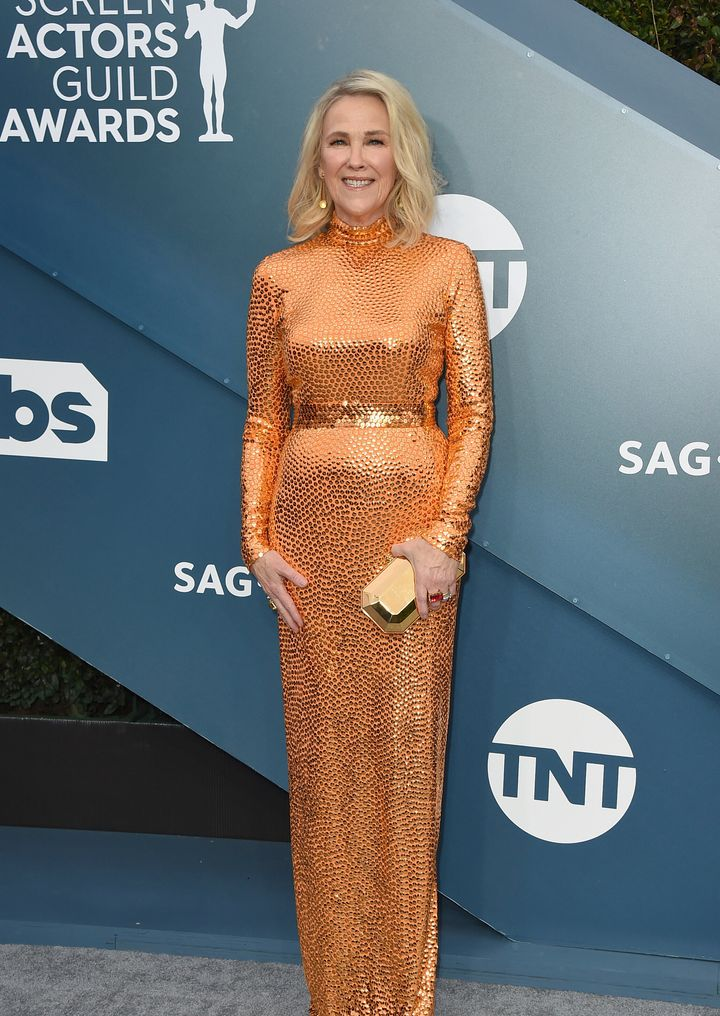Catherine O'Hara arrives at the 26th annual Screen Actors Guild Awards at the Shrine Auditorium & Expo Hall on Sunday, Ja