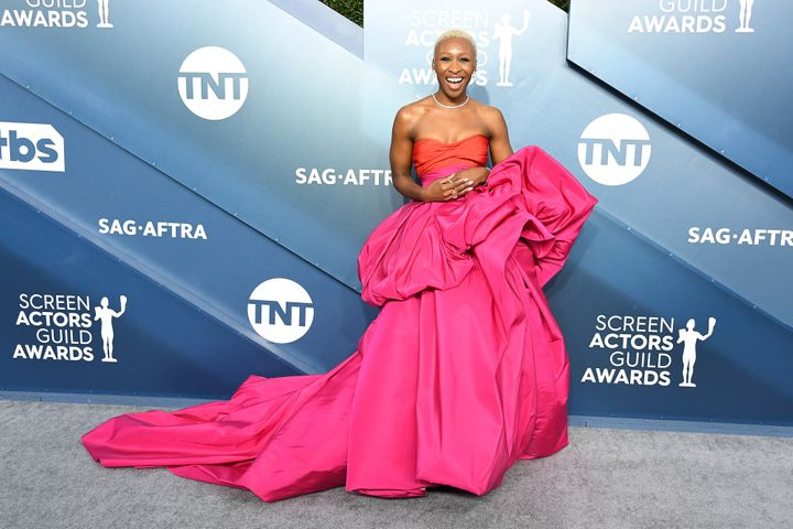 Cynthia Erivo attends the 26th annual Screen Actors Guild Awards at The Shrine Auditorium on Jan. 19, 2020, in Los Angel