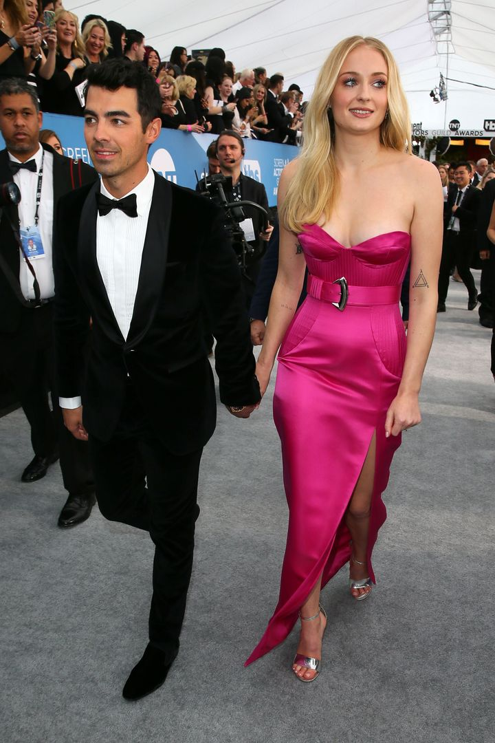 Sophie Turner and Joe Jonas arrive for the 26th Annual Screen Actors Guild Awards.
