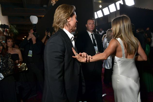 Brad Pitt and Jennifer Aniston attend the 26th Annual Screen Actors Guild Awards on Sunday at the...