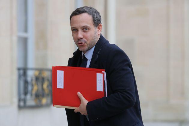 Adrien Taquet à l'Élysée le 15 janvier